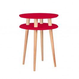 Červený odkládací stolek Ragaba Ufo, ⌀45cm