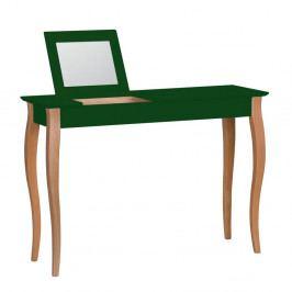 Tmavě zelený toaletní stolek se zrcadlem Ragaba Lillo, šířka105cm