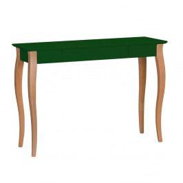 Tmavě zelený psací stůl Ragaba Lillo, šířka105cm