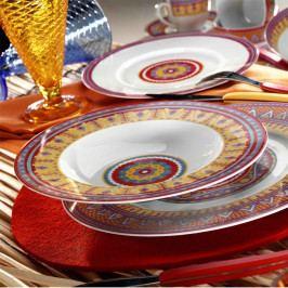 24dílná sada porcelánového nádobí Kutahya Color Boris
