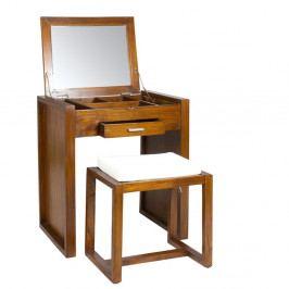 Toaletní stolek se stoličkou ze dřeva mindi SantiagoPons Ohio