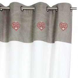 Závěs Antic Line Heart,150x260cm