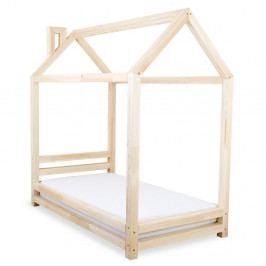 Dětská postel z přírodního smrkového dřeva Benlemi Happy,90x200cm