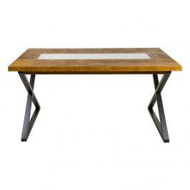 Jídelní stůl z jedlového dřeva a železa Santiago Pons Nara