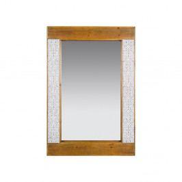 Zrcadlo z jedlového dřeva a železa Santiago Pons Nara