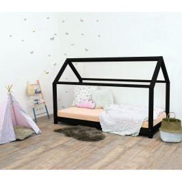 Černá dětská postel bez bočnic ze smrkového dřeva Benlemi Tery, 90 x 160 cm