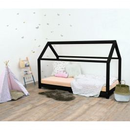Černá dětská postel bez bočnic ze smrkového dřeva Benlemi Tery, 120 x 200 cm