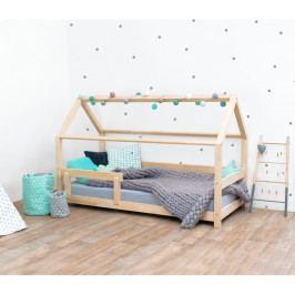 Přírodní dětská postel s bočnicí ze smrkového dřeva Benlemi Tery, 80 x 180 cm