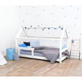 Bílá dětská postel s bočnicemi ze smrkového dřeva Benlemi Tery, 90 x 160 cm