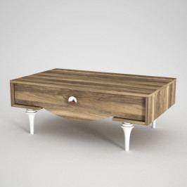 Konferenční stolek vořechovém dekoru Kumsal