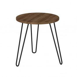 Odkládací stolek v dekoru ořechového dřeva Beren