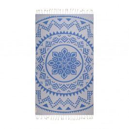 Modrá hammam osuška z bavlněných a bambusových vláken Begonville Arcane, 180x95cm