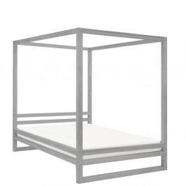 Šedá dřevěná dvoulůžková postel Benlemi Baldee, 200x190cm