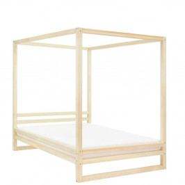 Dřevěná dvoulůžková postel Benlemi Baldee Viva Naturaleza, 200x200cm
