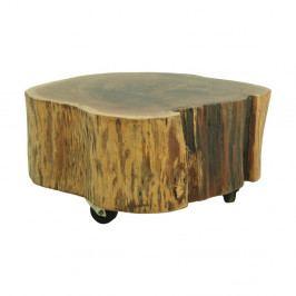 Podstavec z akáciového dřeva na kolečkách HSM collection Stam, Ø 65 cm