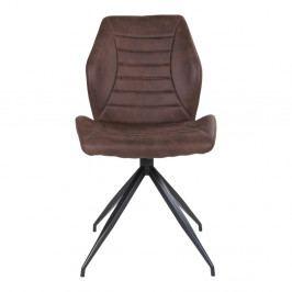 Sada 2 tmavě hnědých jídelních židlí House Nordic Fredericia