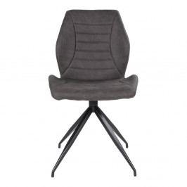 Sada 2 tmavě šedých jídelních židlí House Nordic Fredericia