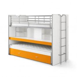 Oranžová palanda s policemi Vipack Bonny, 220 x 100 cm
