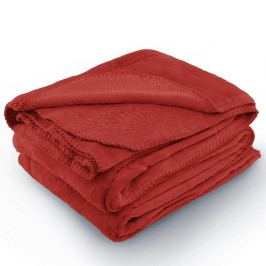 Červená deka z mikrovlákna AmeliaHome Tyler, 170 x 200 cm