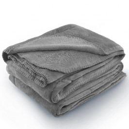 Šedá deka z mikrovlákna AmeliaHome Tyler, 170 x 200 cm