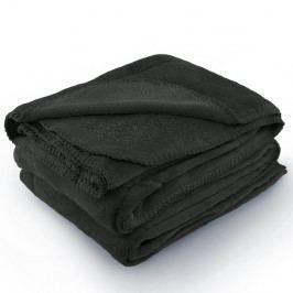 Tmavě šedá deka z mikrovlákna AmeliaHome Tyler, 170 x 200 cm