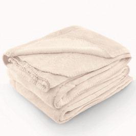 Krémov deka z mikrovlákna AmeliaHome Tyler, 70 x 150 cm
