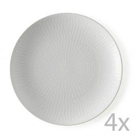 Sada 4 dezertních talířů Brandani Granaglie Blanc, ⌀ 21 cm