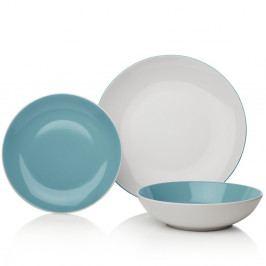 12dílná modrobílá sada nádobí z kameniny Sabichi Duck Egg