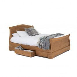 Dvojlůžková postel z dubového dřeva VIDA Living Carmen, 180x200cm