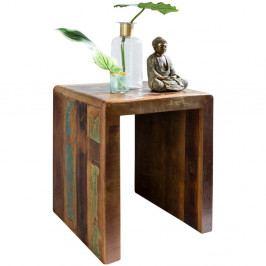 Odkládací stolek z recyklovaného mangového dřeva Skyport KALKUTTA, výška 55 cm