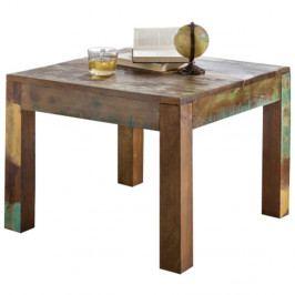 Jídelní stůl z recyklovaného mangového dřeva Skyport KALKUTTA, 60 x 60 cm