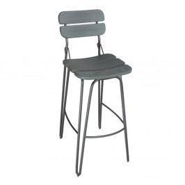 Šedá barová židle VIDA Living Delta, výška 93 cm
