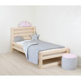 Dětská dřevěná jednolůžková postel Benlemi DeLuxe Naturalisimo, 180x80cm