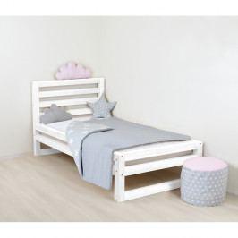 Dětská bílá dřevěná jednolůžková postel Benlemi DeLuxe, 160x70cm