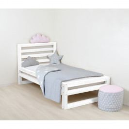 Dětská bílá dřevěná jednolůžková postel Benlemi DeLuxe, 160x90cm