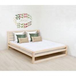 Dřevěná dvoulůžková postel Benlemi DeLuxe Nature, 190x180cm