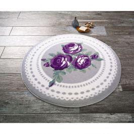 Kruhová předložka do koupelny Confetti Bathmats Rose Bud, ⌀100 cm