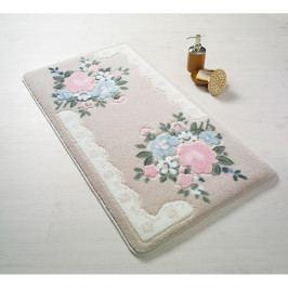 Růžová předložka do koupelny Confetti June, 80 x 140 cm