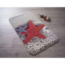 Vzorovaná červená předložka do koupelny Confetti Bathmats Starfish, 80 x 140 cm