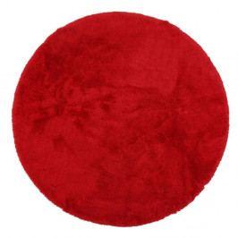 Červená předložka do koupelny Confetti Bathmats Miami, ⌀100 cm