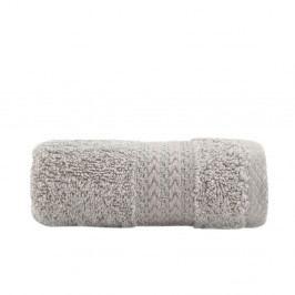 Šedý bavlněný ručník Amy, 30x50 cm