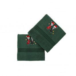 Sada 2 zelených bavlněných ručníků Cift Green