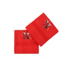 Sada 2 červených bavlněných ručníků Cift Red