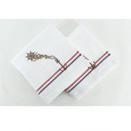 Sada 2 bílých ručníků Marina, 50 x 90 cm