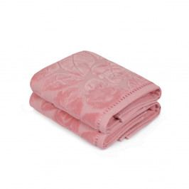 Sada 2 růžových ručníků Madame Coco Velver, 50 x 90 cm