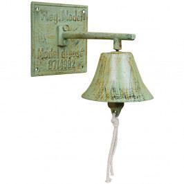 Zelený litinový nástěnný zvonek Ego Dekor