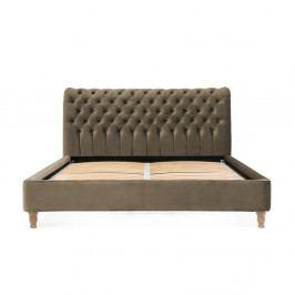 Hnědošedá postel z bukového dřeva Vivonita Allon, 140 x 200 cm