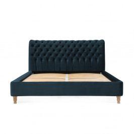 Námořnicky modrá postel z bukového dřeva Vivonita Allon, 160 x 200 cm