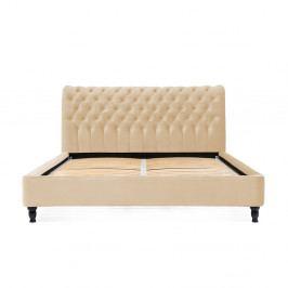 Pískově hnědá postel z bukového dřeva Vivonita Allon, 160 x 200 cm