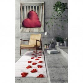 Vysoce odolný běhoun Webtappeti Hearts, 58x240cm